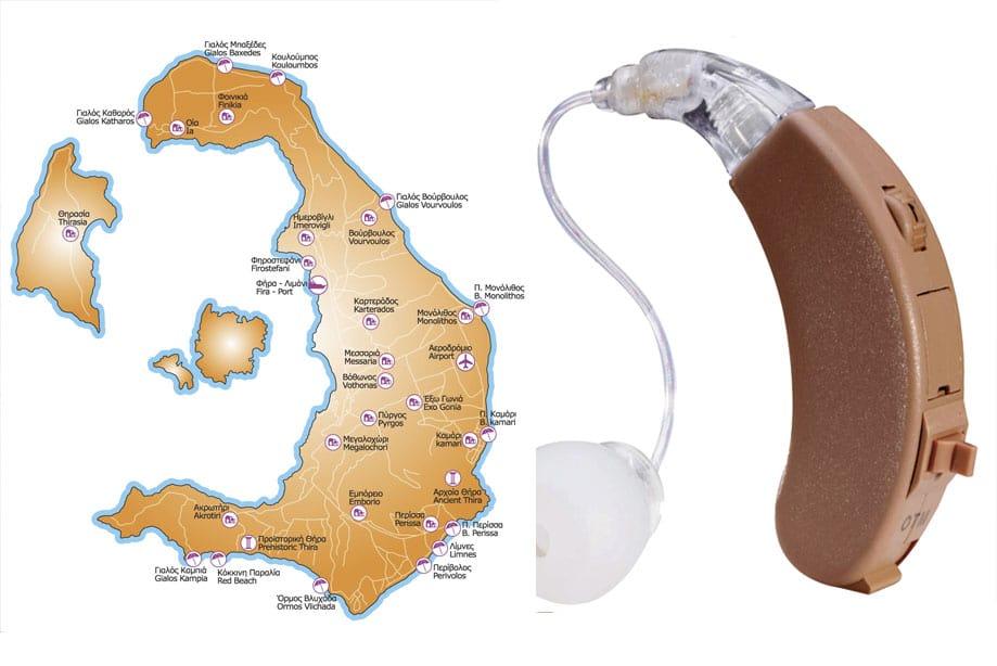 mapa santorini