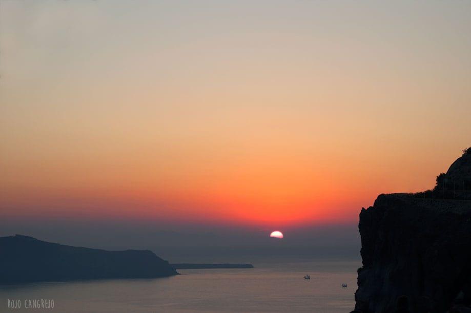 puesta de sol en Oia