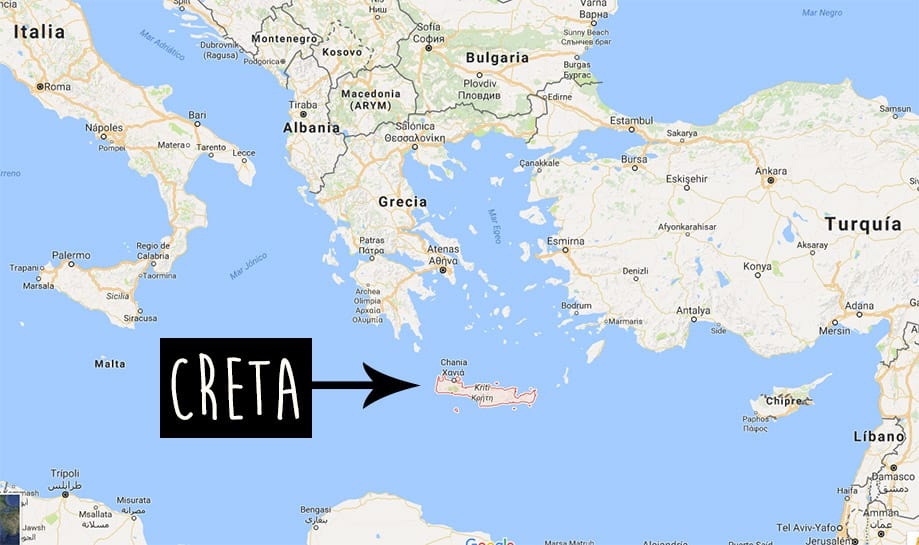 Dónde está Creta