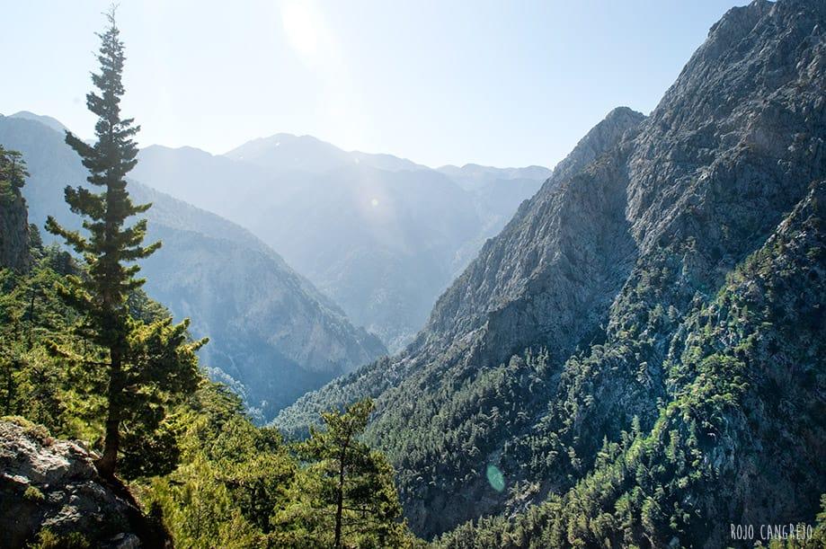 Garganta de Samaria en Creta