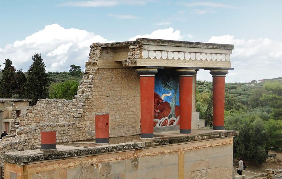 Palacio de Cnosos en Creta