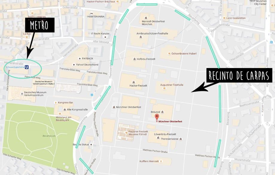 Mapa de la Oktoberfest
