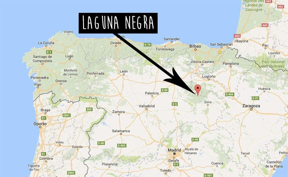 Laguna Negra mapa