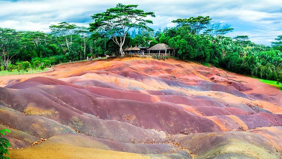 Tierra de los siete colores en Mauricio