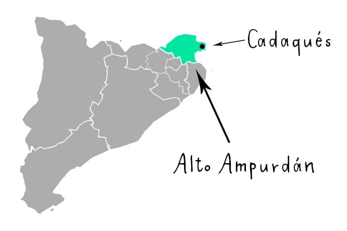 Mapa Cadaqués