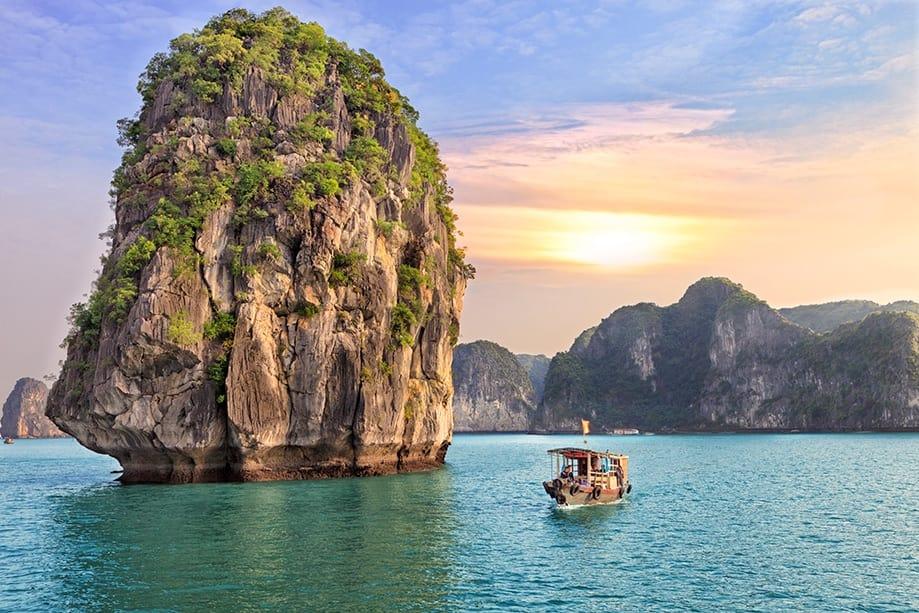 bahía de halong en enero | Rojo Cangrejo blog de viajes