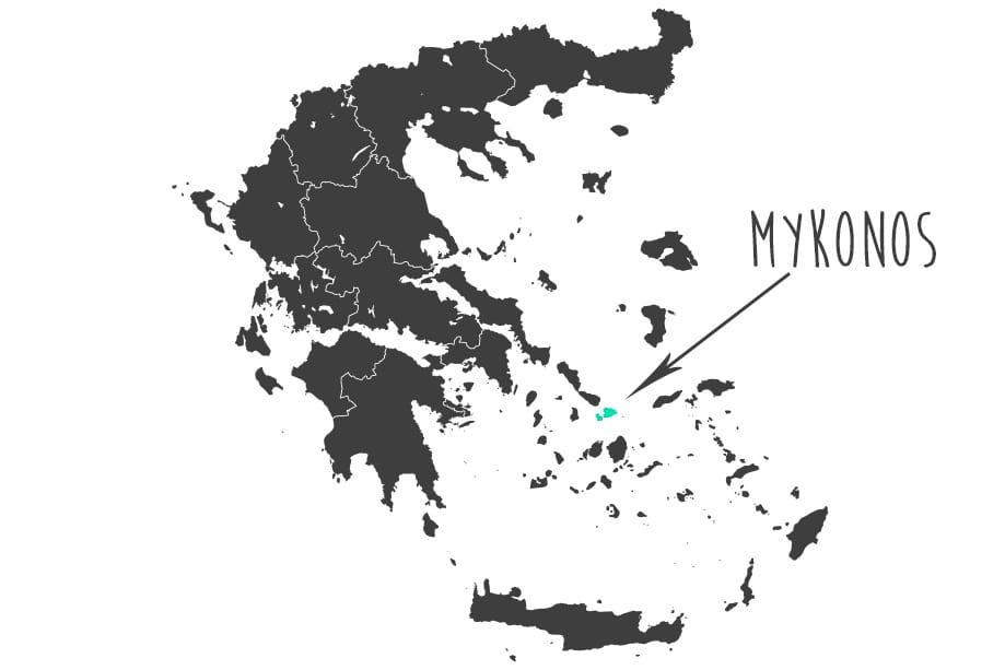 Mykonos mapa | Rojo Cangrejo Blog de viajes