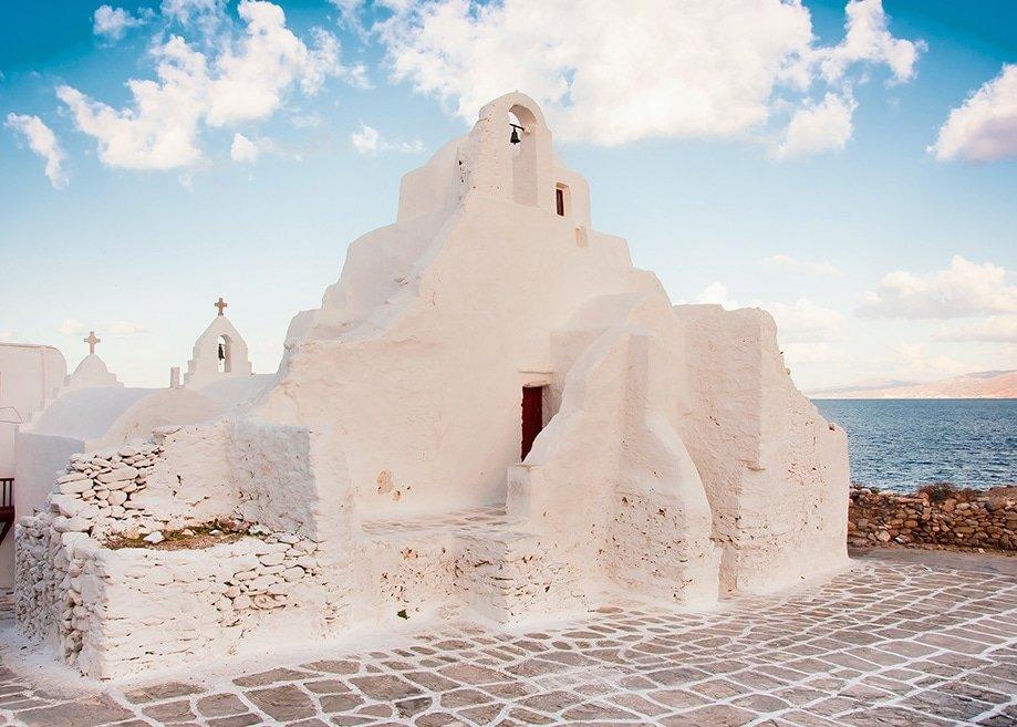 Iglesia Paraportiani en Mykonos | Rojo Cangrejo Blog de viajes