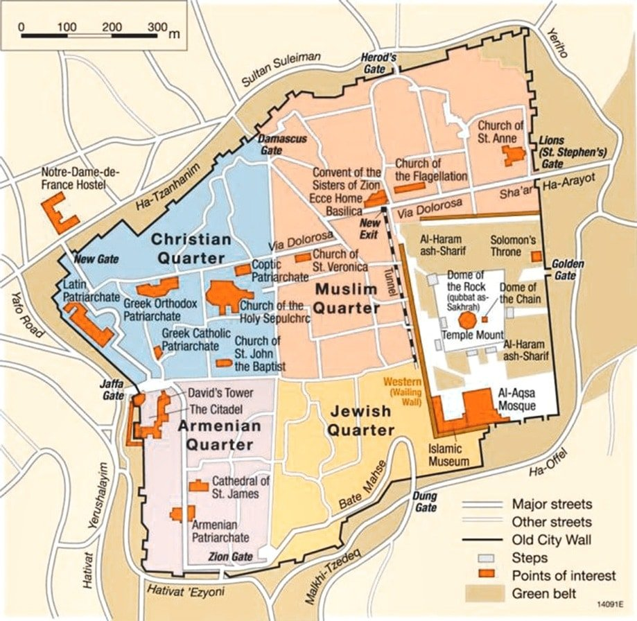 Mapa de Jerusalén | Rojo Cangrejo Blog de viajes
