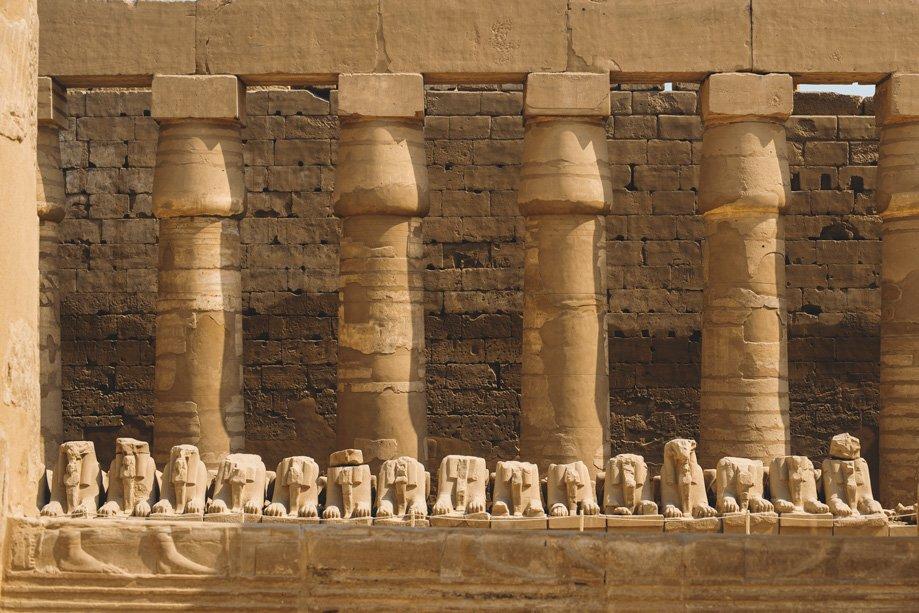 Qué ver en el templo de Luxor Luxor | Rojo Cangrejo Blog de Viajes