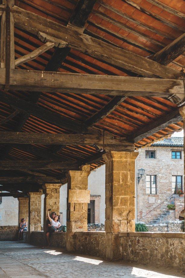 Bagno Vignoni en La Toscana