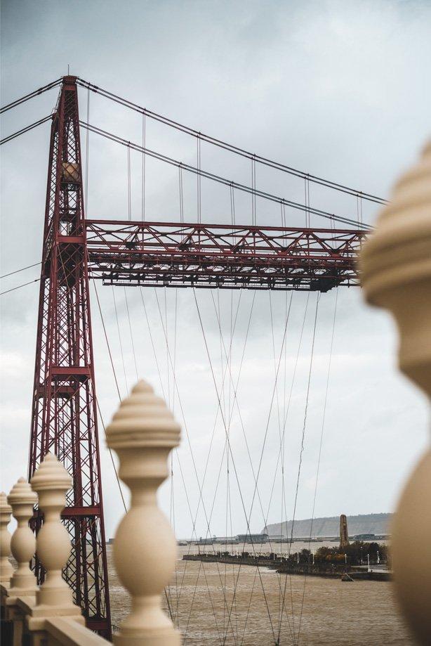 puente colgante Portugalete altura