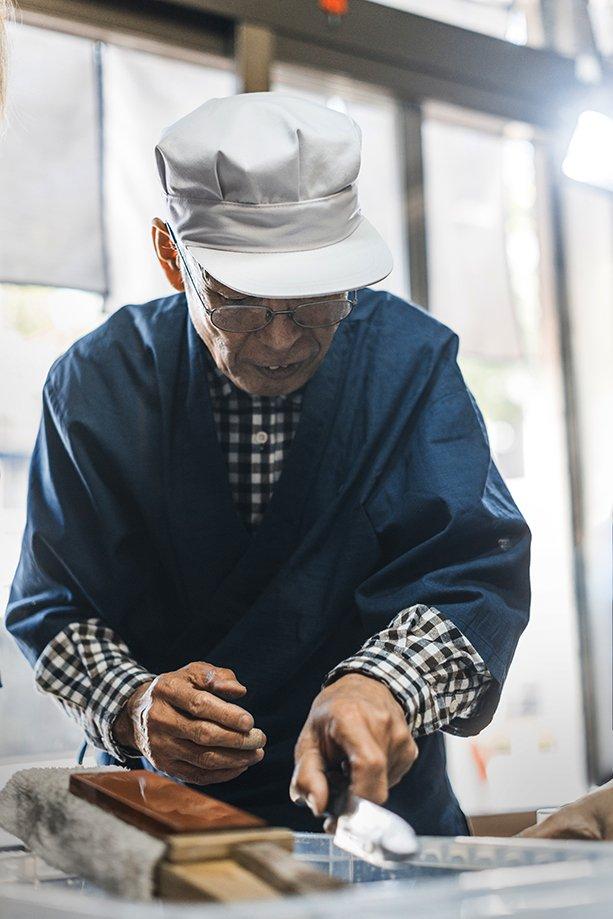 cuchillo fileteador japonés